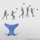 Volleyball Sequence Storm Grey Wall Decal