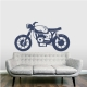 Cafe Racer Wall Decal Dark Blue