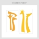 Giraffe Silhouettes Wall Decal