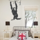 Hanging Chimp Wall Decal
