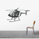 Helicopter Wall Decal
