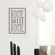 Home Sweet Home Wall Quote Decal