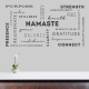 Yoga Words Wall Quote Decal