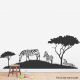 Zebras On Grass Wall Decal