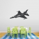 Aircraft Jet Wall Decal in Black