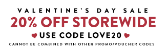 20% off - Wallums Valentine's Sale