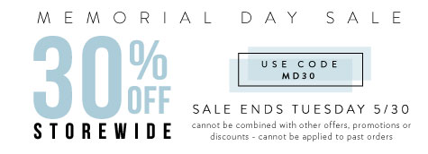 30% off with Code MD30